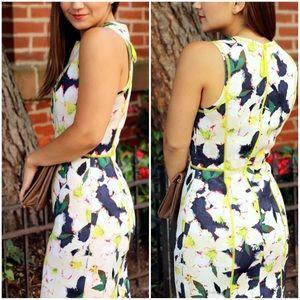 J Crew Scuba Floral Print Dress